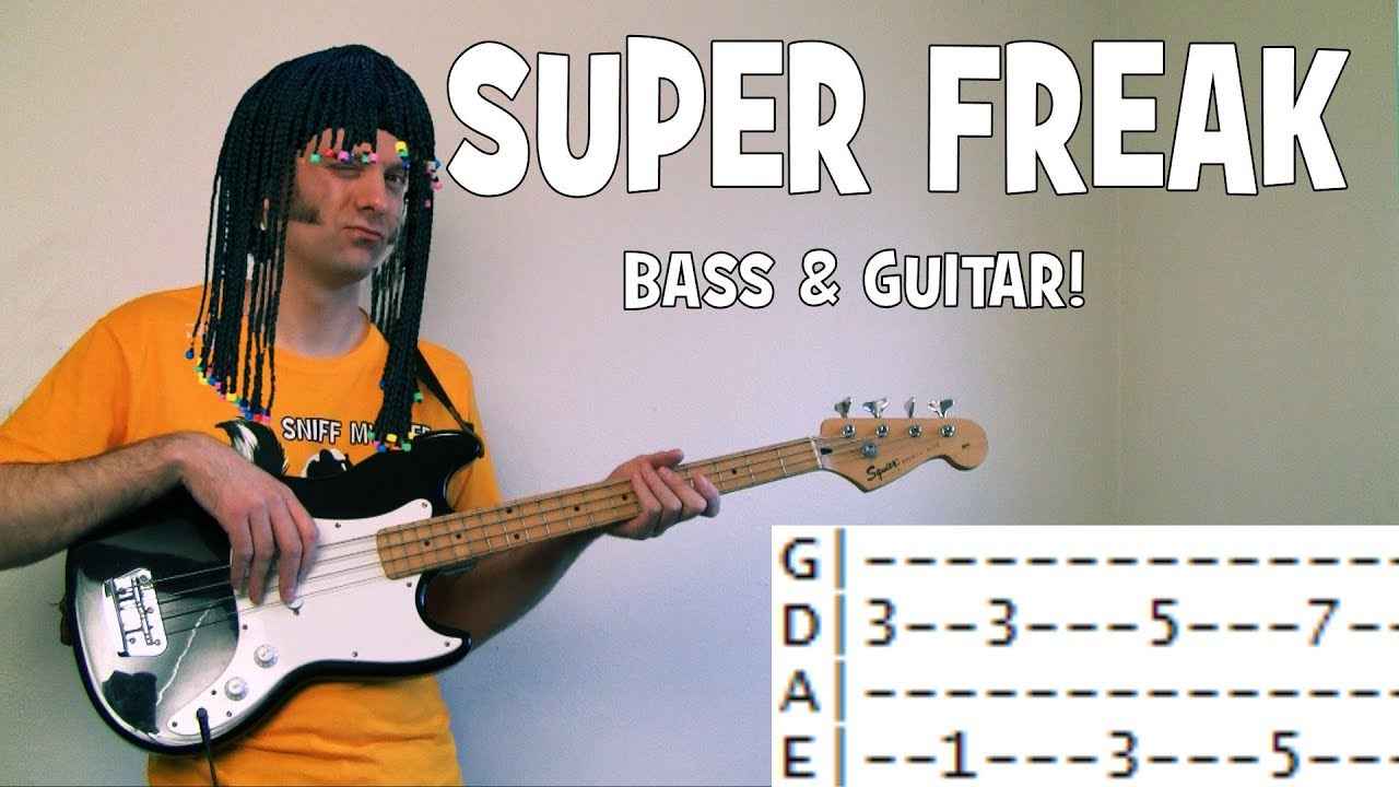 How To Play Super Freak By Rick James Guitar Lesson Chords Bass