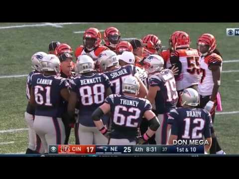 Vontaze Burfict Squares Off with Gronk After Hit on Martellus Bennett