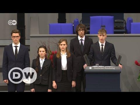 Выступление российских и немецких школьников в бундестаге - полная версия