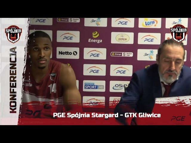 Konferencja PGE Spójnia Stargard - GTK Gliwice
