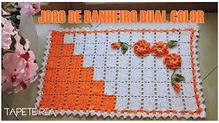 JOGO DE BANHEIRO DUAL COLOR TAPETE PIA – Diane Gonçalves