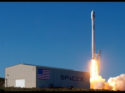 Falcon 9 OrbComm OG2 launch AND SUCCESSFUL FIRST STAGE LANDING
