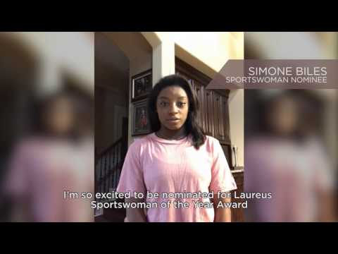 Simone Biles is a Nominee for the Laureus World Sportswoman of the Year Award