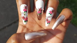 Spring Time Floral Nail Art Tutorial