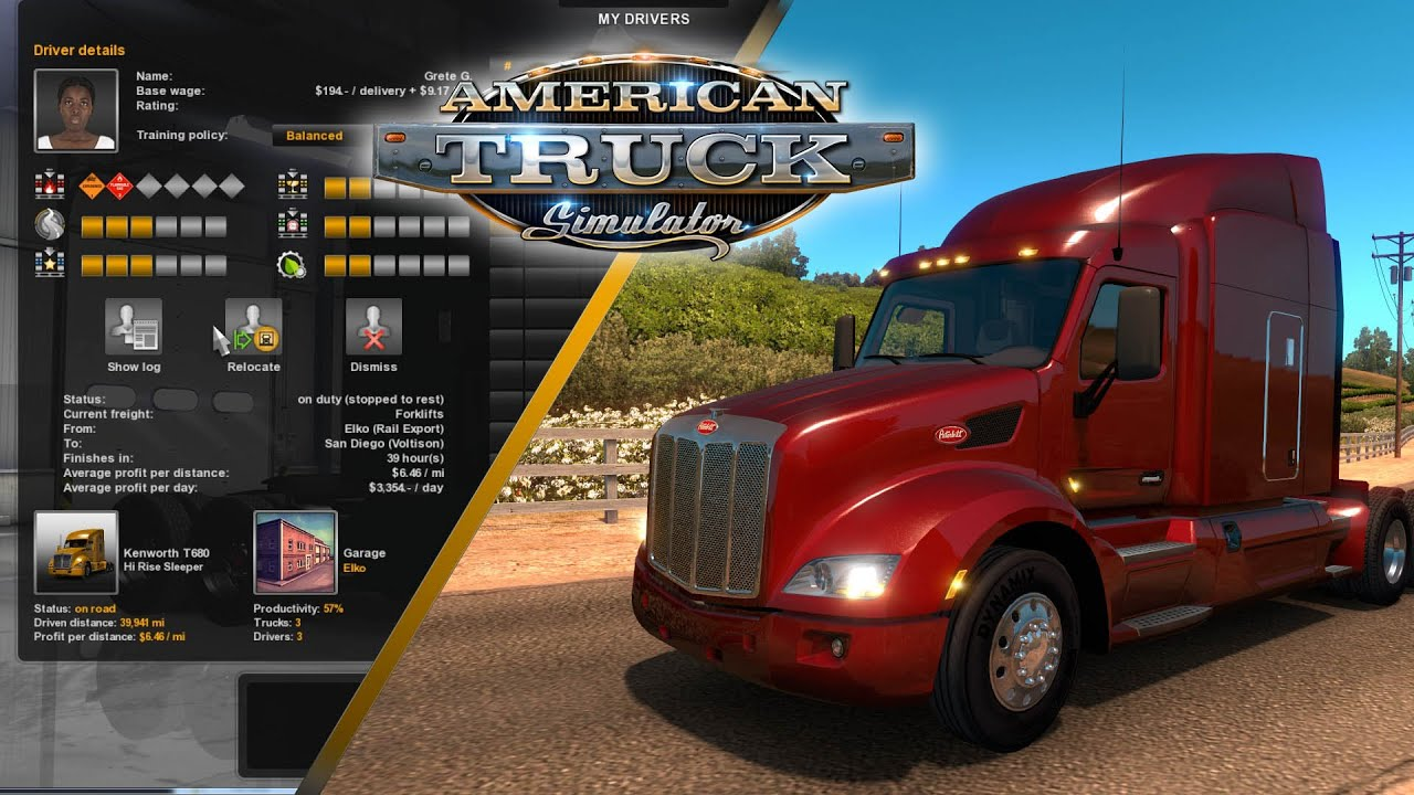 american truck simulator game features youtube. Black Bedroom Furniture Sets. Home Design Ideas