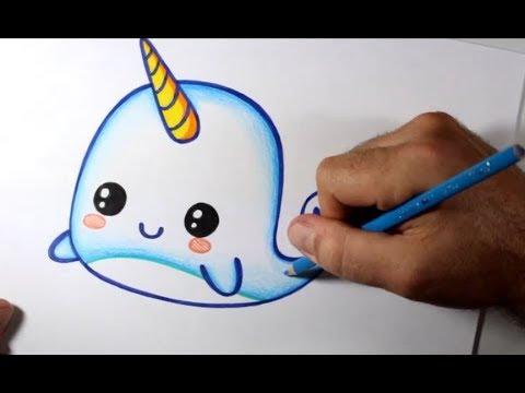 Como Desenhar Baleia Kawaii Passo A Passo