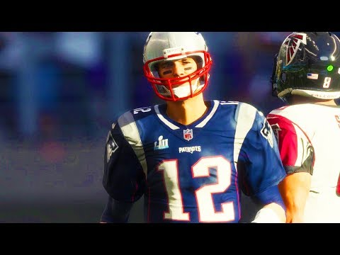 MADDEN 18 GAMEPLAY FULL GAME - New England Patriots vs. Atlanta Falcons (SUPER BOWL 1080p 60fps)