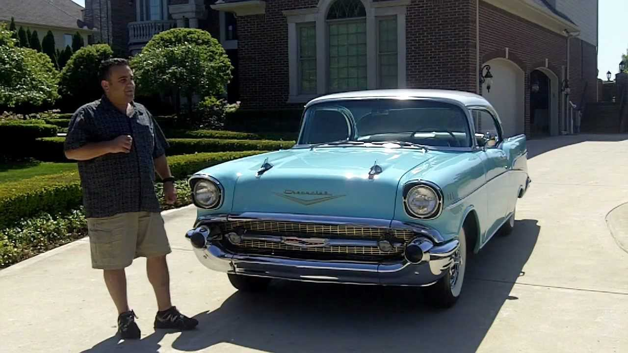 1957 Chevy Bel Air 2 Door Hardtop Classic Muscle Car For Sale In Mi Vanguard Motor Salesmv