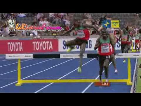 Mondiali Atletica Berlino 2009: Finale 3.000 metri siepi Uomini - Vince Ezekiel Kemboi - 18 agosto