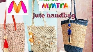 Latest Designer jute handbag collection|😍😍 beautiful bags|MONICA MAHEE