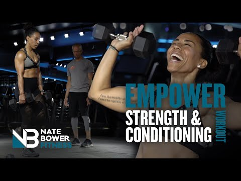 45 minute At Home Strength Training Workout | Get Empowered