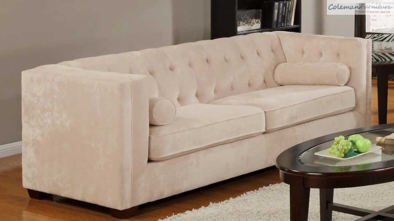 Alexis Almond Living Room Collection From Coaster Furniture - YouTube