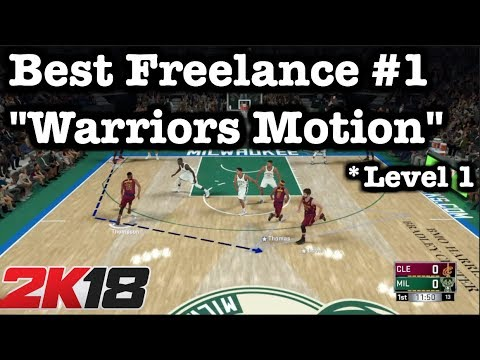 NBA 2K18 Best Freelance Offense Tutorial: 2K18 Money Plays: 2K18 Warriors Motion Cuts Freelance #10