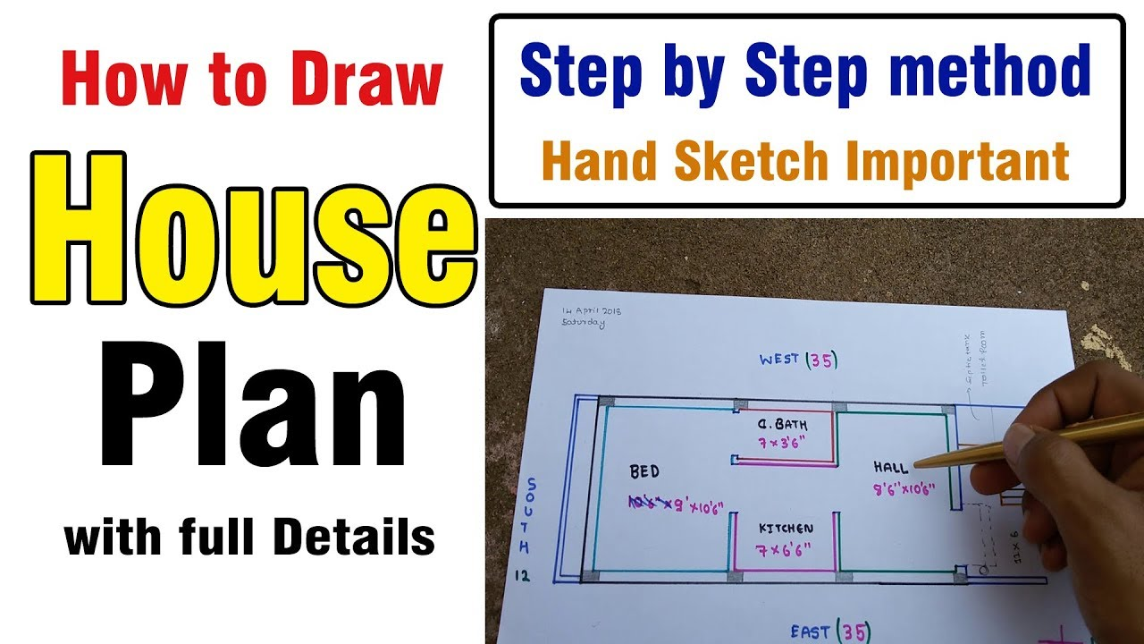 Draw A House Plan Step By Method