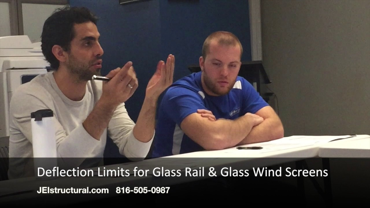 Deflection Limits for Glass Rail & Glass Wind Screens