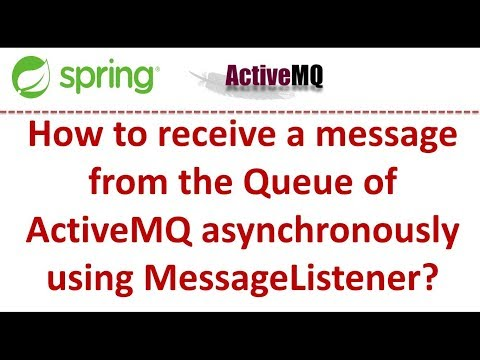 How to receive a message from the Queue of ActiveMQ