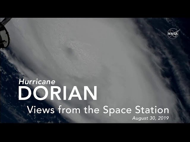 Views of Hurricane Dorian from the International Space Station - August 30, 2019