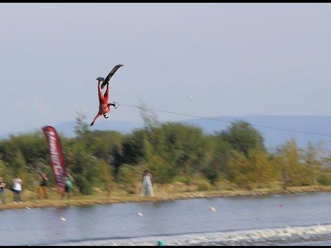 Jaret Llewellyn Ski jump crash - IWWF Waterski Championships 2015