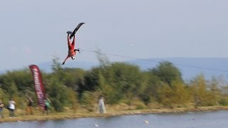 Jaret Llewellyn Ski jump crash - IWWF Waterski Championships 2015 thumbnail