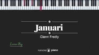 Januari (LOWER KEY) Glenn Fredly (KARAOKE PIANO)
