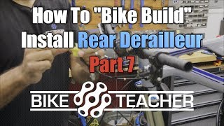 How to install a Shimano XT, 8000 rear derailleur onto your stumpjumper fsr frame.