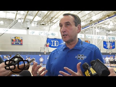 Coach K talks starting 4 freshman in Duke exhibition game | SportsCenter | ESPN