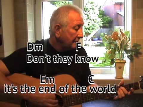 End of the World - Skeeter Davis - cover - easy chords guitar lesson ...