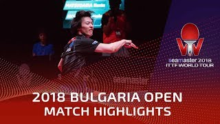 Zheng Peifeng vs Kenta Masudaira | 2018 Bulgaria Open Highlights (1/4)