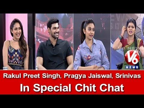 Rakul Preet Singh, Pragya Jaiswal And Srinivas In Special Chit Chat | Jaya Janaki Nayaka | V6 News