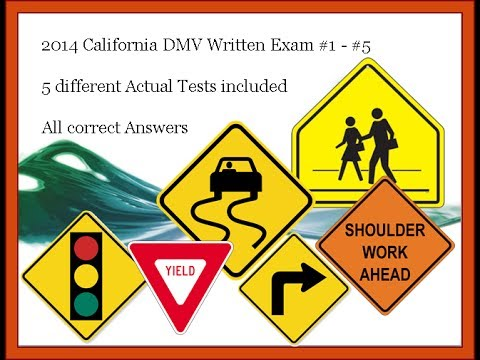 2016 California DMV written tests - 5 different tests