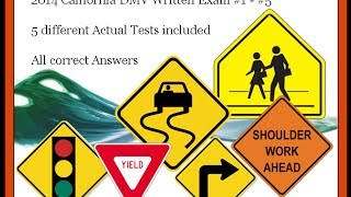 2015 California DMV written tests - 5 different tests