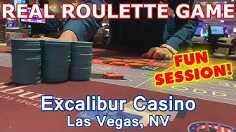 I LOVE THIS GAME! - Live Roulette Game #14 - Excalibur Casino, Las Vegas, NV - Inside The Casino