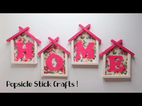 Ide Kreatif Stik Es Krim HIASAN DINDING HOME ! Wall decor popsicle stick crafts | Wall hanging