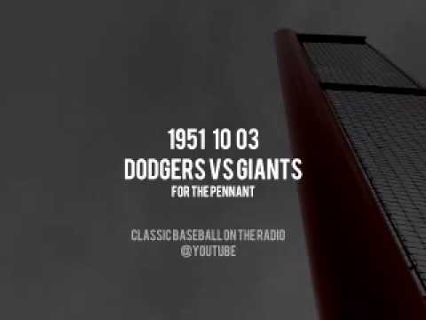 1951 10 03 NL Championship Game 3 Giants vs Dodgers UPGRADE From Previous