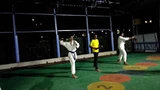 Dynamic martial arts Nunchaku training