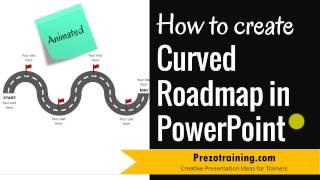 كيفية إنشاء منحنى خارطة الطريق في PowerPoint (الرسوم المتحركة!)