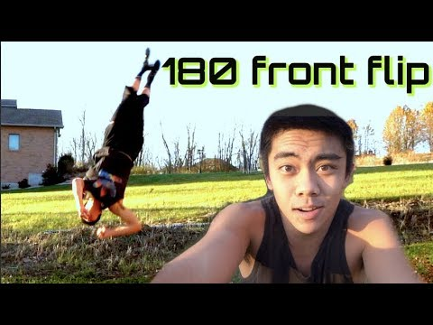 How To Do A 180 Front Flip/Front Half (Parkour/Freerunning Tutorial)