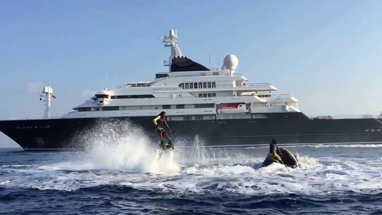 Maldivian Flyboarders Octopus Mega Yacht YouTube