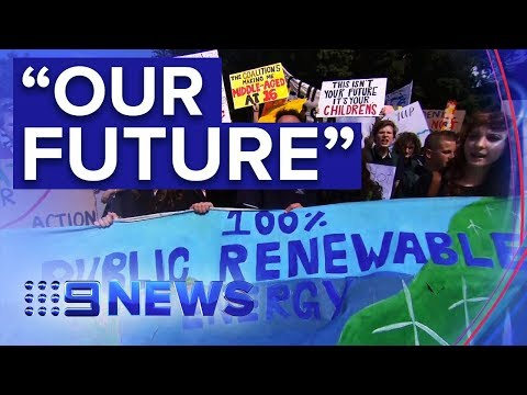 300,000 Australian students join global climate change strike | Nine News Australia