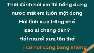 Hoi Nguoi Con Nho Den Ta Karaoke - Khánh Ly - CaoCuongPro