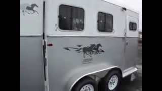 2014 Circle J Mirage 7'6 Tall Aluminum Skin 2 Horse Trailer