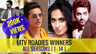 Roadies Winners List All Seasons 1 to 14 ( Roadies Rising Winner : Shweta )