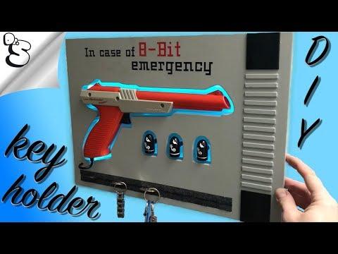 Nintendo Zapper LED key holder / Schlüsselbrett  ----- D I Y -----