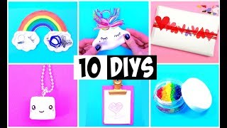 MAKING 10 AMAZING DIY BFF Gift Ideas, Slime, Squishy, Room Decor & Organization COMPILATION!