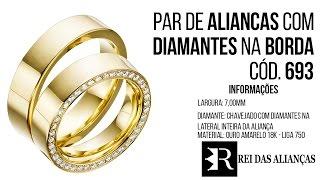 Alianças de Casamento ou Noivado Cód. 693 Rei das Alianças 5be31f3fd1