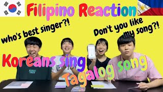 Filipino reaction when they suddenly hear 'Tagalog song' by Korean | Koreans reaction | Challenge