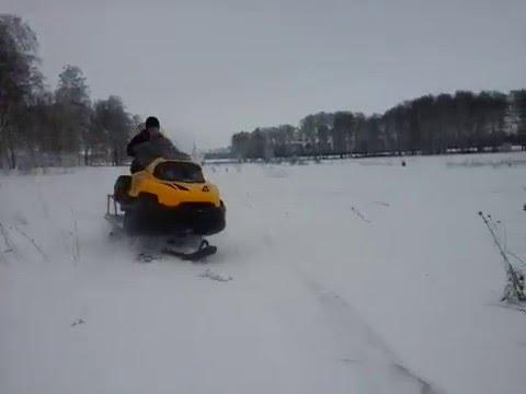 Тест-драйв прототипа снегохода Стелс Ермак