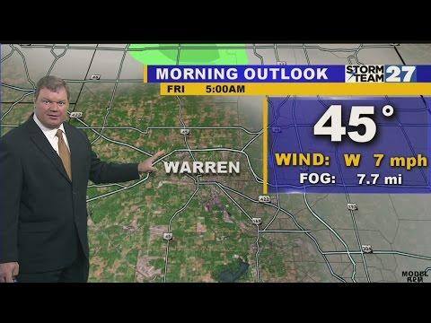 Warren Morning Weather October 16, 2015