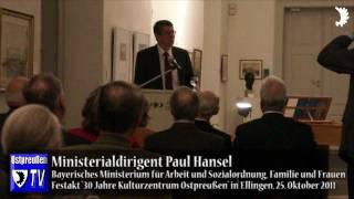 MDirig Hansel: Das Kulturzentrum Ostpreußen gehört zum Kulturstaat Bayern
