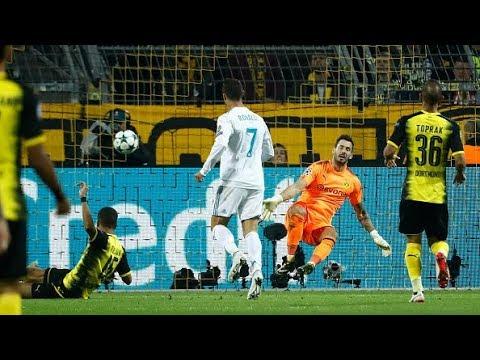 Bale Faz Linda Jogada E Cristiano Ronaldo Marca Contra O Borussia